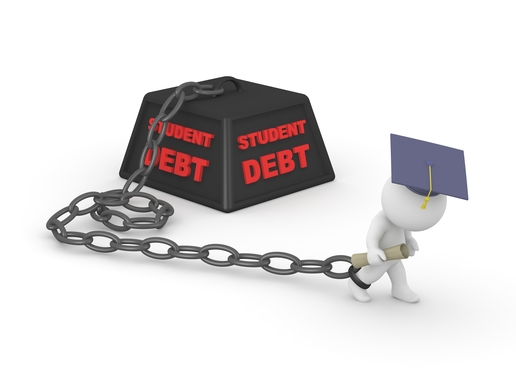 graduate chained to student debt