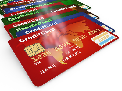 Long line of no name credit cards