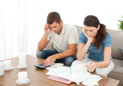 couple worrying about finances
