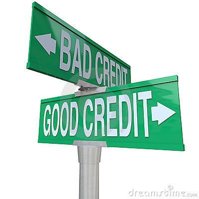bad and good credit signs